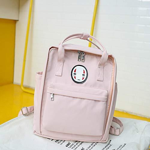 FEIYI School Bag 2020 New Women Backpack Printing Bag for Women Big Laptop School Backpack for College Student Travel Bag 2020 Yellow Children's Backpack (Color : Pink)
