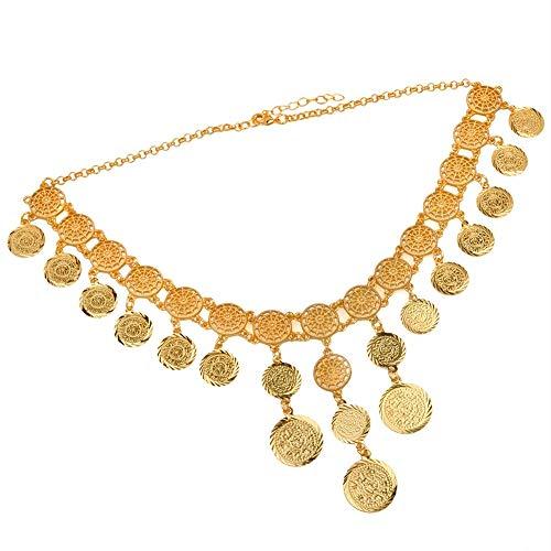 Nobrand 48cm Collares árabes del Color del Oro de la Moneda del Vintage para Las Mujeres Regalos de Boda árabes Medios de Pascua