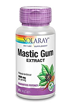Solaray Mastic Gum Extract   Healthy Gastrointestinal and Digestive Function Support   1000 Mg   45 VegCaps 22 Servings