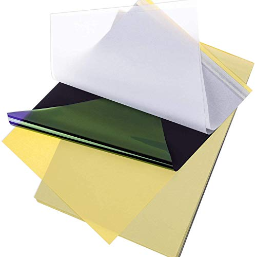 HOUSON 25 Blatt Carbon Tattoo Papier Profi A4 Kohlepapier Matritzenpapier Pauspapier Transferpapier Schablone Selberdrucken