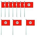 Tunisien Fahnen 10er Set - Flagge 10 x 15 cm