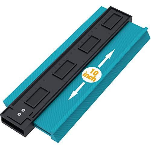 Asgens 型取りゲージ コンターゲージ フレームゲージ プロファイルゲージ DIY用 角度と曲線をコピーする測定ゲージ 目盛付き (ブルー)
