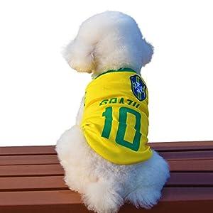besmall Maillot pour chien Football Jersey T-shirt pour chien chat animal Coupe du Monde les costumes costume vêtements Père Noël Animal Chien Vêtements (XS/S/M/L/XL/XXL, l'Allemagne/Italie/Portugal/Brésil)