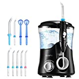 ELLESYE Water Dental Flosser Oral Irrigator 600ml with 9 Multifunctional Jet Tips, 3 Min Timer, Water Dental Pick for Braces Care & Teeth Cleaning, Quiet Design
