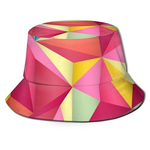 GAHAHA Fischerhüte für Herren, bunte geometrische Fischermütze, atmungsaktiv, Sonnenschutz, UV-Schutz, Unisex, faltbar, Sommerhut