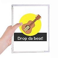 ヒップホップミュージック 硬質プラスチックルーズリーフノートノート