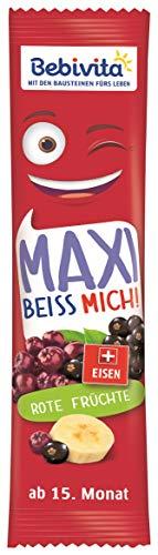 Bebivita Früchte Riegel MAXI BEISS MICH! Rote Früchte, 16er Pack (16 x 35 g)