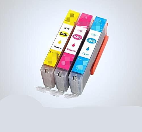ESORST 4 Pack 36 4XL Reemplazo de Cartuchos de Tinta Compatible para HP 364 XL para HP 3070A 5510 6510 B20 Impresora 9A C510A C309A (Color : 3pcs C M Y)