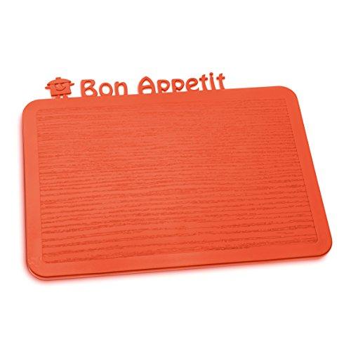 Koziol 3263633 Happy Boards Bon Appétit Planche à Découper Plastique Orange 17,9 x 22,7 x 0,3 cm