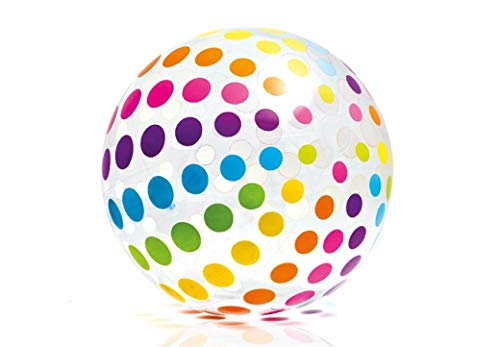 Intex - Jumbo Ball, Glossy Panels, with Variated Eye Catching Designs, (42 inches) (4-Pack)