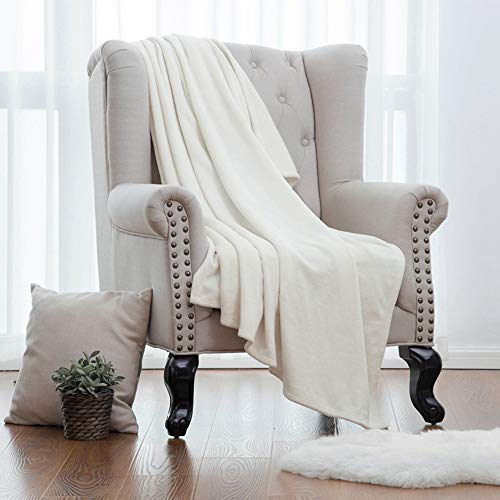 La Couverture de jet de Flanelle pour le Sofa, Lit Double Simple Léger Moelleux Confortable Léger Moelleux Jette Couverture