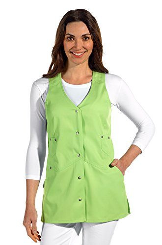 clinicfashion 10112072 Trägerkleid/Kasack ohne Arm für Damen, hellgrün, Mischgewebe, Größe 46