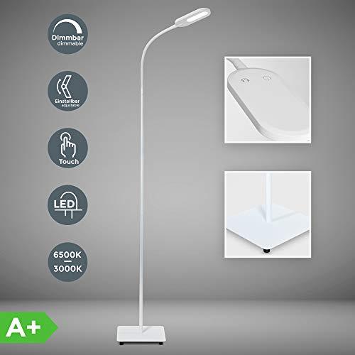 LED Stehlampe weiß dimmbar I inkl. 8W 600lm LED Platine I Stehleuchte I 3000K - 6000K warmweiß -...