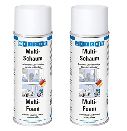 WEICON Multi-Schaum 400 ml 2er Set | Universal Schaumreiniger für Polster, Scheiben, Kunststoff und Metall | Biologisch abbaubar