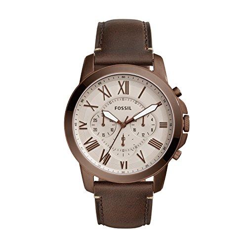 Fossil Herren Quarz Uhr mit Leder Armband FS5344