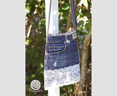 Jeans Tasche mit Häkeln