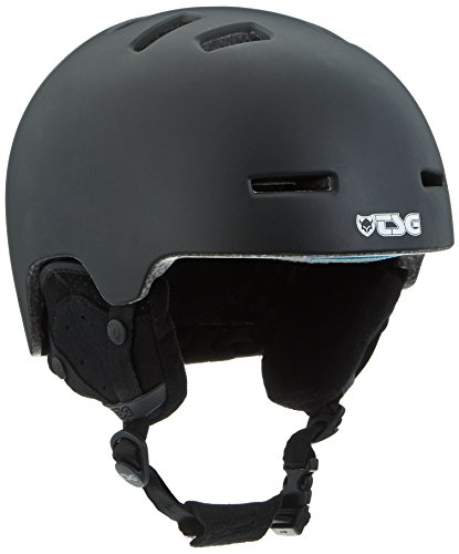 TSG Kinder Helm Arctic Nipper Maxi Solid Color Snowboardhelm, satin black, XXS/XS