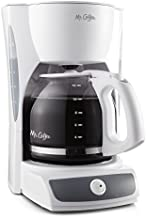 Mr. Coffee 12-Cup Switch Coffee Maker, CG12, White