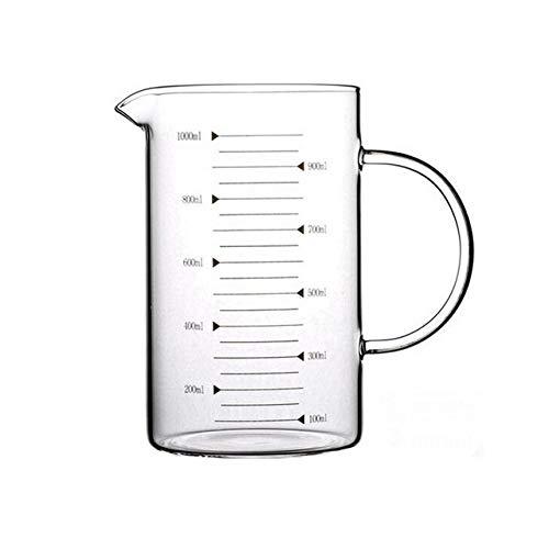 Tings Borosilicaat Hittebestendige glazen schaalbeker Maatbeker Transparante beker Melk Koffiekop Magnetron Bakglasbeker, zonder deksel