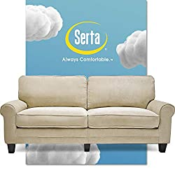 "Serta RTA Copenhagen Collection 78"" Sofa in Marzipan-best couch for back pain"