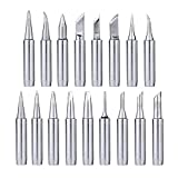 Mesee 17Pcs Soldering Tips Kit 900M Lead-Free Solder Iron Tip Welding Replacement Accessories for Hakko, Radio Shack, TENMA, ATTEN, Quick, Aoyue, Yihua Solder Station
