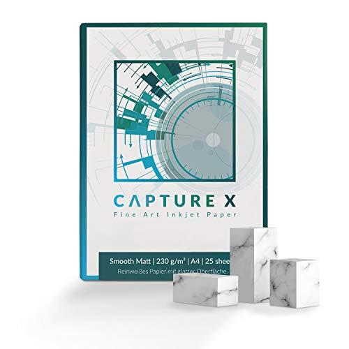 CAPTURE X Smooth Matt, 230g/m², A4, 25 Blatt Box - reinweiß, glatt - Fine Art Papier