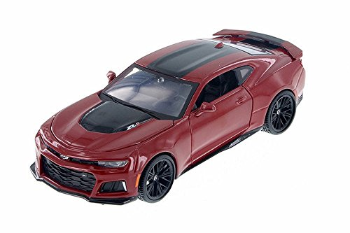 2017 Chevrolet Camaro ZL1 Hard Top, Red - Motor Max 79351AC/R - 1/24 Scale Diecast Model Toy Car