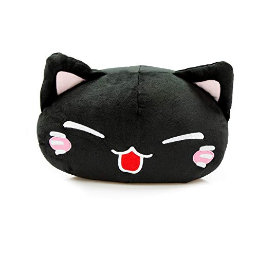 Nemu Neko Super Soft Schwarz Plüsch Katze Manga Anime Otaku Kawaii Stofftier Plüschtier Plush Cat Original aus Japan