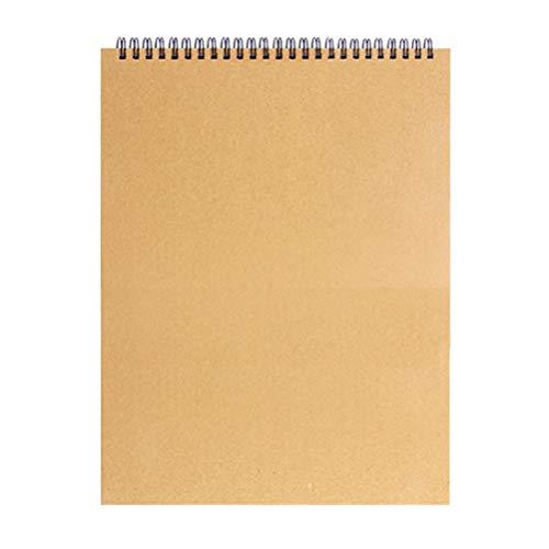 STOBOK A5 Cuadernos de Dibujo Bloc de Dibujo Espiral Encuadernado en Blanco Bloc de Dibujo Pintura Diario Artista Boceto Diario Dibujo Cuaderno Dibujo Accesorios de Dibujo
