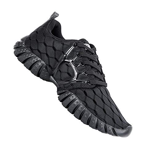 small ALEADER Carbon Black 7 D (M) Lightweight mesh sports shoes for women made in the United States