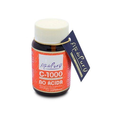 Vitamina C-1000 (no Ácida) - Estado Puro 100 comprimidos de Tongil
