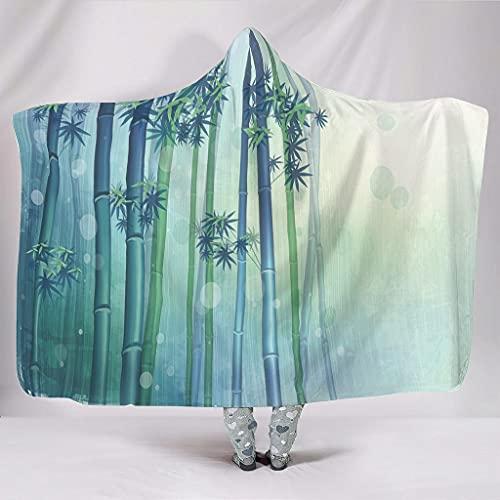 Fineiwillgo Manta con capucha de bambú y lluvia minimalista, manta con capucha, supersuave y cálida, para niñas, manta de felpa, para sofá o sillón, color blanco, 150 x 200 cm