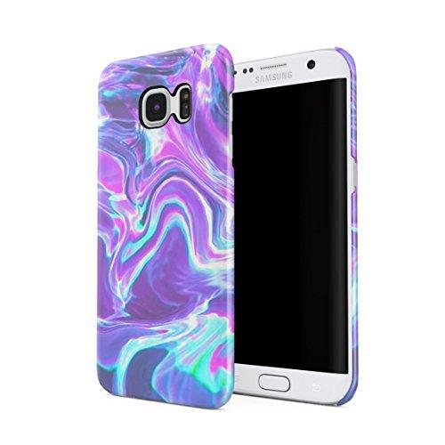 Holographic Water Print Tie Dye Rainbow Colorful Pale Rad Indie Boho Tumblr Custodia Posteriore Sottile in Plastica Rigida Cover per Samsung Galaxy S7 Edge Slim Fit Hard Case Cover