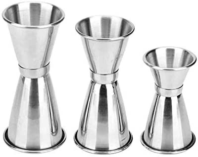 WSERE Cocktail Jigger Set of 3 Stainless Steel Double Jiggers Bar Jigger Set 1 2 oz 3 4 1 1 product image