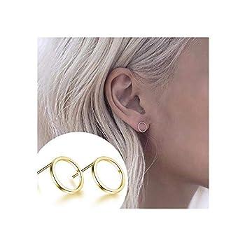 Simple Stud Earrings for Women Geometric Minimalist Stud Earring Set Tiny Circle Triangle Square Bar Stud Earrings Mini Cartilage Tragus Earrings