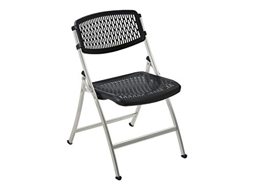 Mity-Lite Flex One Folding Chair, Black, 4-Pack