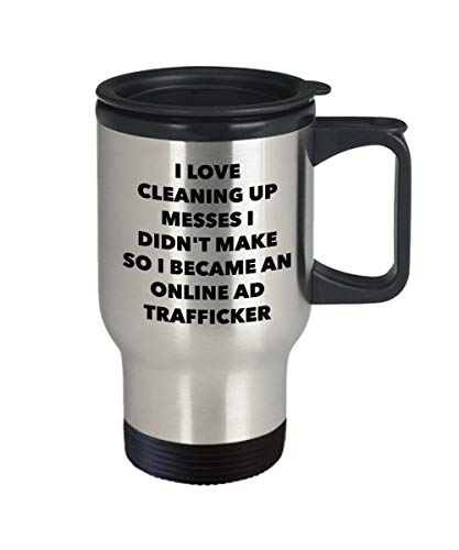 DKISEE I Became An Online Ad Trafficker Travel Mug - Online Ad Trafficker Gifts Tumbler Keep Drinks Cold & Hot Travel Mug 14oz