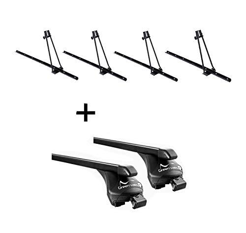 VDP 4X Portabici Orion + portapacchi Quick in acciaio L compatibile con Hyundai ix35 2010-2014