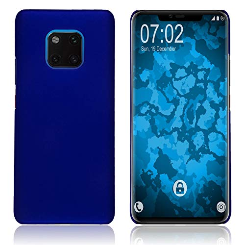 Preisvergleich Produktbild PhoneNatic Case kompatibel mit Huawei Mate 20 Pro - Hülle blau gummiert Hard-case Cover
