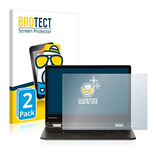 BROTECT 2X Entspiegelungs-Schutzfolie kompatibel mit Medion Akoya E2228T (MD 61250) Bildschirmschutz-Folie Matt, Anti-Reflex, Anti-Fingerprint