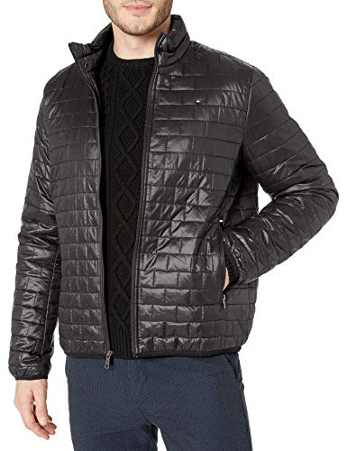 Tommy Hilfiger Men's Ultra Loft Sweaterweight Quilted Packable Jacket, Black, Medium