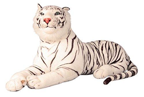 Tiger weiß XXL Plüschtier 1,70 m Kuscheltier Stofftier Raubkatze weiss