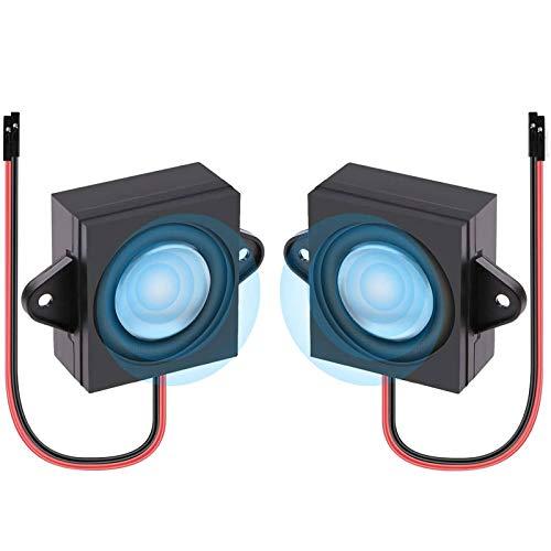 2 Stück Lautsprecher für A rduino Mini Speaker 3 Watt 8 Ohm Einzelner Hohlraum Full-Range Hohlraum Werbung Maschinen Lautsprecher Stecker Trennung von eins zu zwei Schnittstelle 3.3V 5V