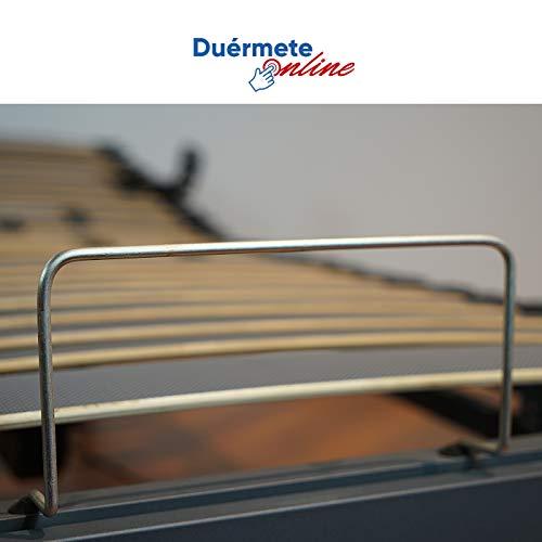41xET8QAclL - Duérmete On-line Cama Eléctrica Articulada Reforzada 5 Planos Ergoluxe + Colchón Viscoelástico Dorsal Visco, Gris, 90x190