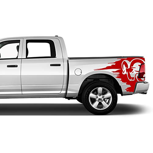 Bubbles Designs Decal Sticker Vinyl Racing Stripes Bed Compatible with Dodge Ram 1500 2500 3500 Crew Cab 2009-2020