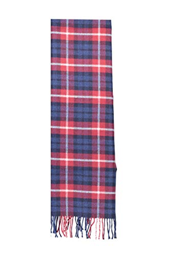 Gant Checked Lambswool Men's Scarf Red