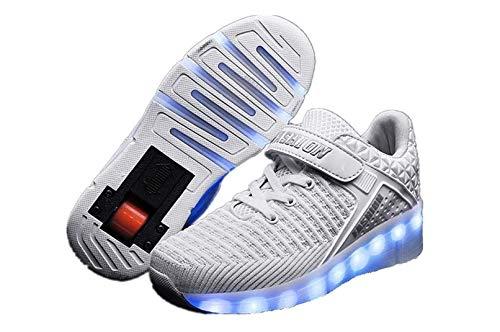 Jungen und Mädchen Schuhe USB wiederaufladbare Rollschuhe einrad Automatische Leuchtschuhe Bunte LED-Lichtschuhe mehrfarbige Größe,G,33