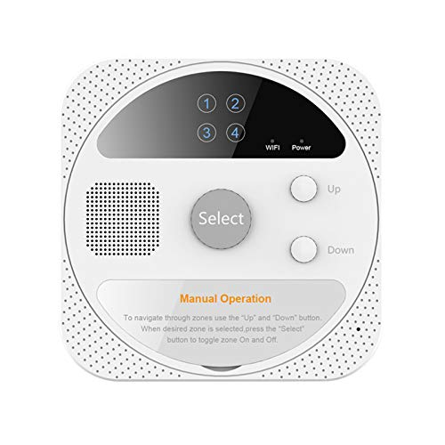 aixi-SHS Inteligente Wi-Fi Controlador de rociadores de Interior 4 Zonas, Establecer temporizadores de riego, Smart Life App (Adaptador de Corriente no Incluido)