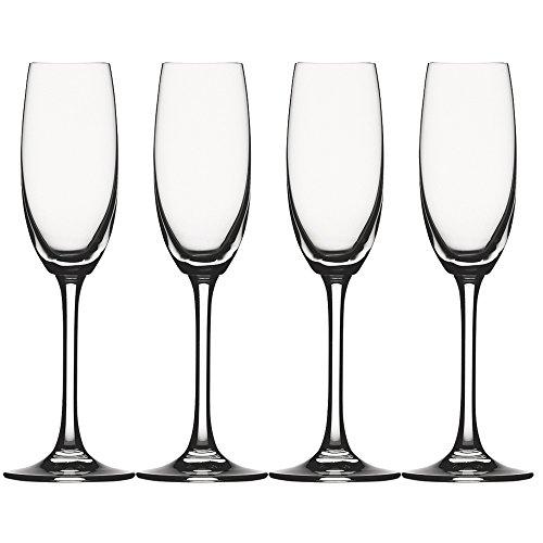 Spiegelau & Nachtmann, 4-teiliges Champagnerflöten-Set, Kristallglas, 168 ml, Festival, 4020275