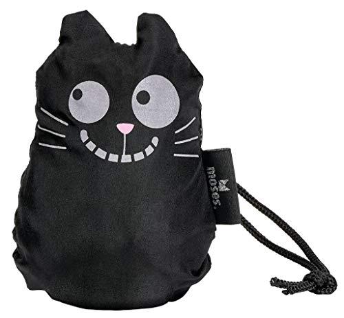moses. Ed, The Cat Zaubershopper Kitty   Faltbare Einkaufstasche aus recyceltem PET   Shopper- Beutel für Einkäufe, Büro oder Uni   Grau